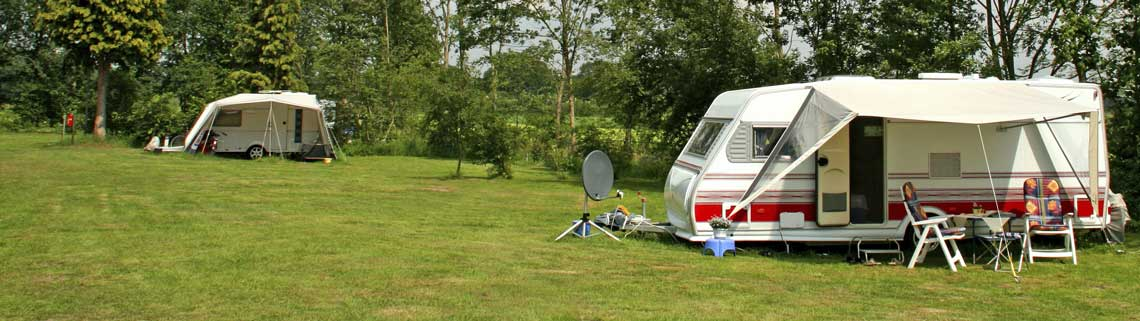 Caravans on campsite